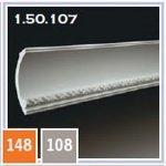 Плинтус из полиуретана 1.50.107 (2метра)
